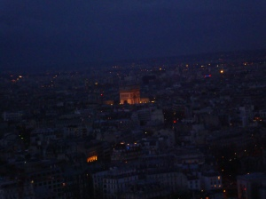 Torre Eiffel vista Arco do Triunfo
